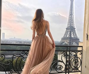 fashion, paris, and dress image