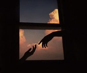 hands, aesthetic, and sky image