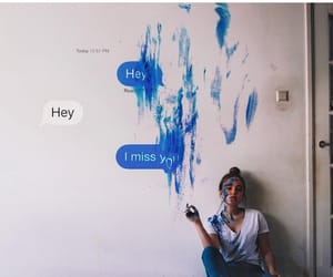 art, blue, and hey image