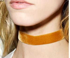 accesories, choker, and mustard image
