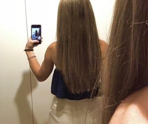 girl, straighthair, and hair image