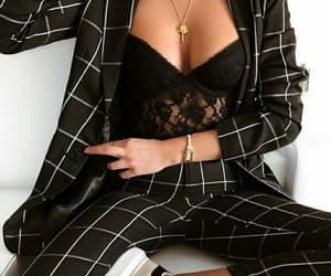 black, cuadros, and dress image