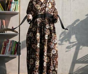 brown dress, maxi dresses, and women dresses image