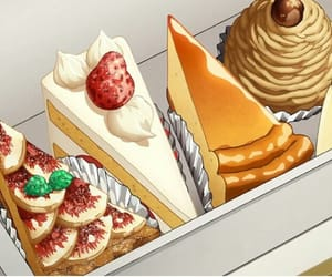 anime, food, and cake image