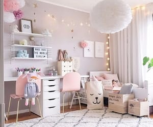 room, bedroom, and girly image