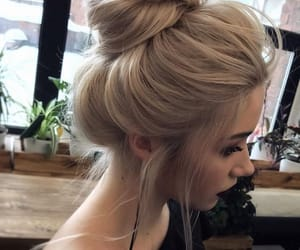 girl, hairstyle, and style image