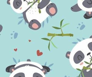 wallpaper, panda, and background image