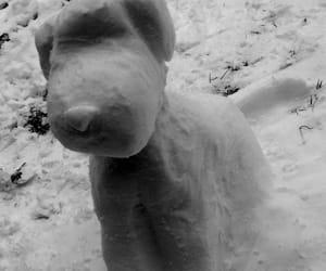 art, dog, and snow image