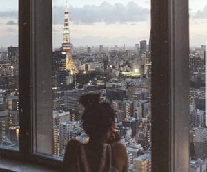 girl, city, and travel image