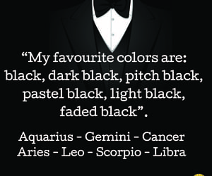 black and zodiac signs image