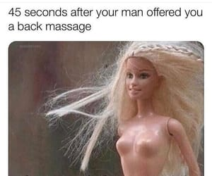 barbie, funny, and couple image