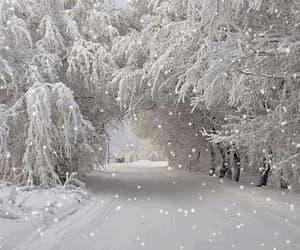 gif, winter, and snowfall image