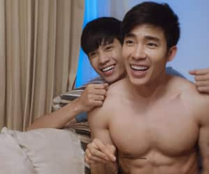 asian, lgbt, and gay couple image