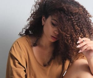 babe, cute, and curly hair image