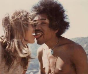 Jimi Hendrix, kiss, and couple image