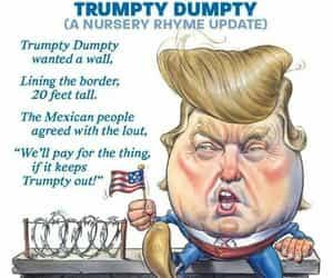 funny, political joke, and trumpty dumpty image
