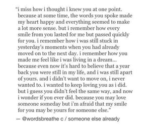 heartbroken, missing, and quote image