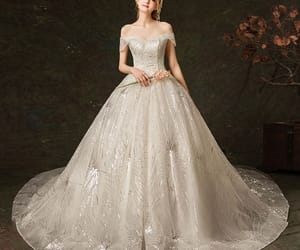 bridal, girl, and tulle wedding image