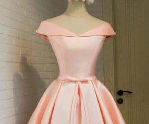 pink prom dresses, a-line homecoming dresses, and homecoming dresses lace image