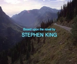 black and white and Stephen King image