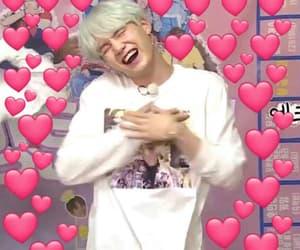 hearts, min yoongi, and meme image