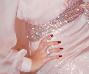 dress, nails, and pink image