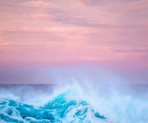 ocean, photography, and pink and blue image