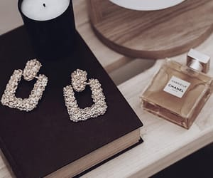 book, candle, and chanel image