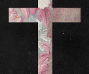 background, black, and cross image