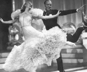black and white, fred astaire, and top hat image