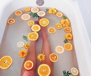 orange, bath, and aesthetic image