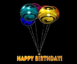 gif, happy birthday balloons, and birthday balloon gif image