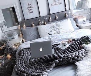 bed, bedroom, and brunch image
