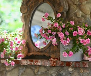 pretty in pink, floral image, and french quarters image