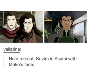 mako, wtf, and legend of korra image