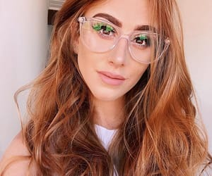 redhead, glasses, and girl image