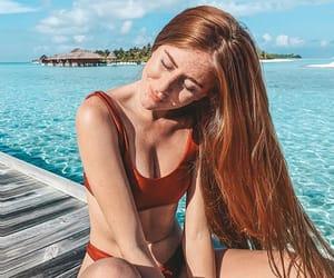 cabelo, praia, and summer image