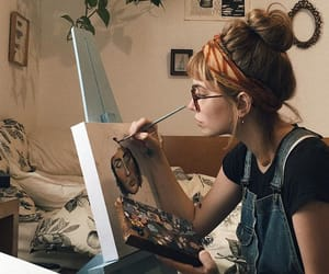 art, art girl, and draw image