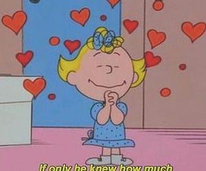 love, cartoon, and hearts image