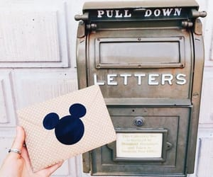 disney, letters, and mailbox image