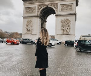 arc de triomphe, blonde, and fashion image