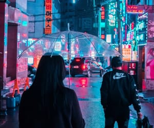 neon and korea image