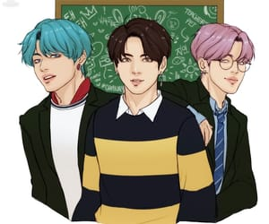 v, jungkook, and jimin image