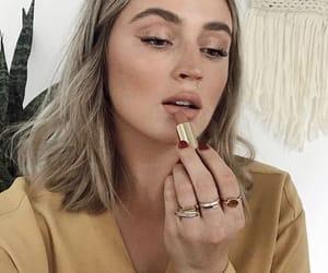 lipstick, makeup, and mauve image
