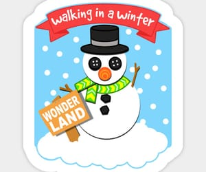 christmas, stickers, and winter wonderland image