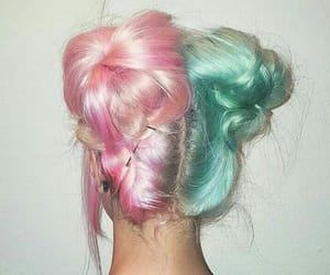 cabelo, colored hair, and colors image