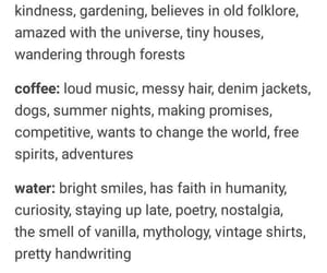 coffee, water, and type image