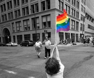 pride, lgbtq, and rainbow image