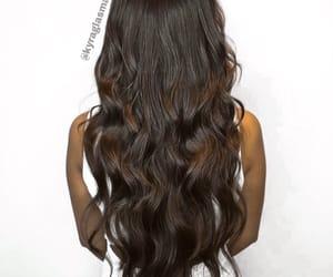 brown, beach waves, and brown hair image