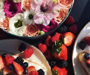 berries, flowers, and food image